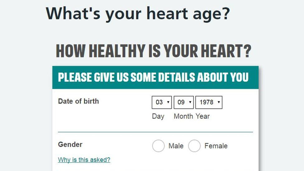 Heart age test