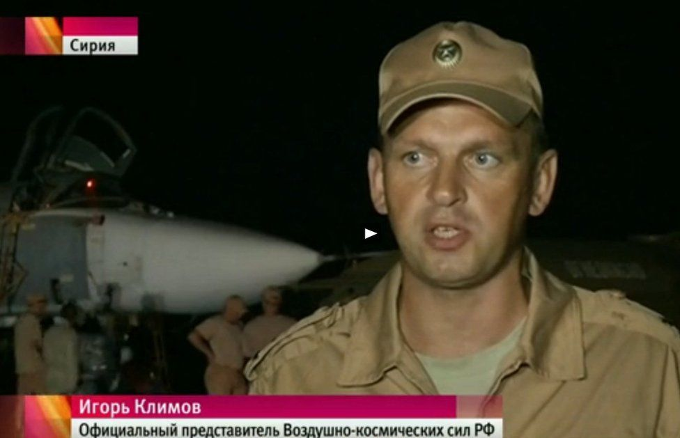 Russian air force officer in Syria - Russian Channel One TV