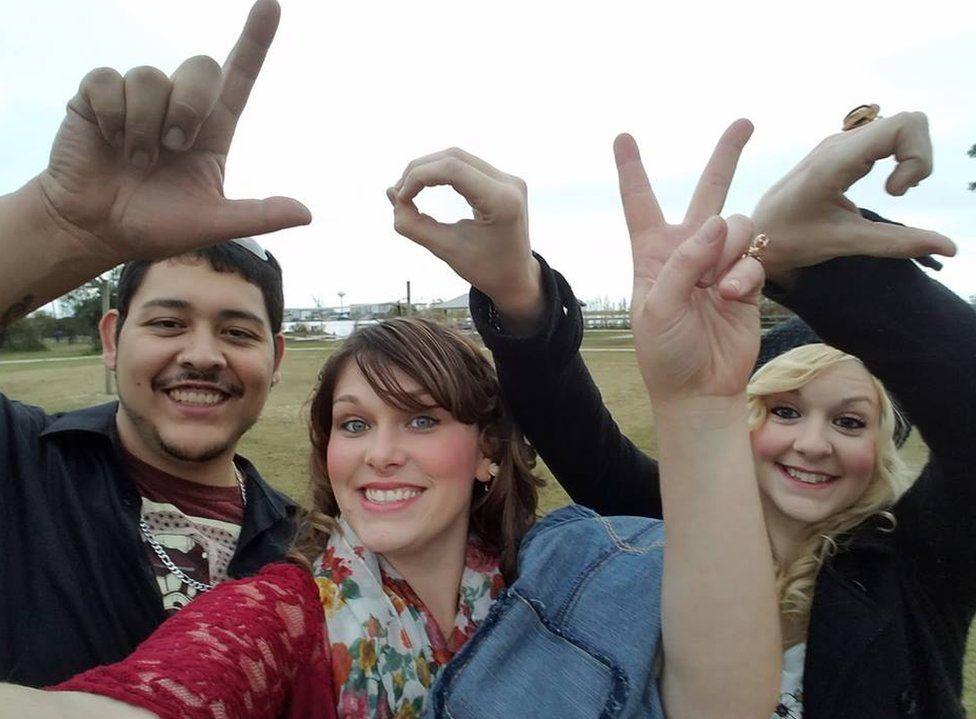 Manny and DeAnna Rivas with Melissa James
