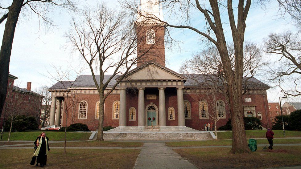 Harvard main campus building, stock photo