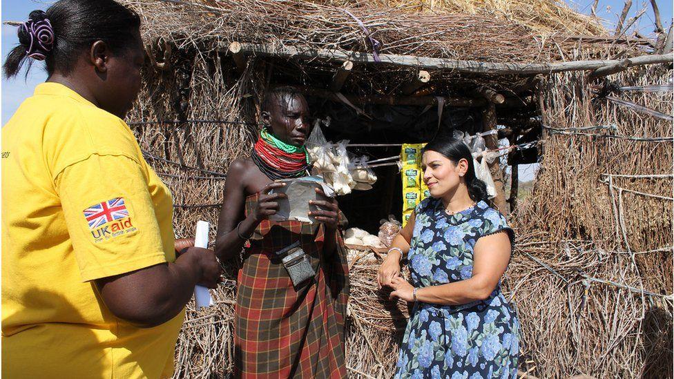 International Development Secretary, Priti Patel visiting an aid project in Kenya