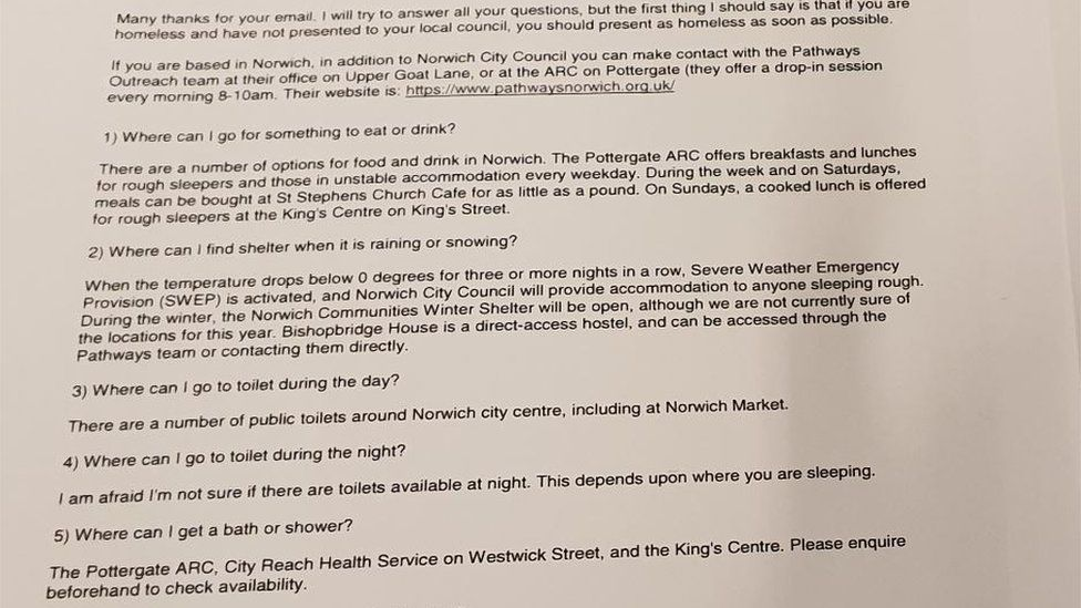 Full response from Norwich council