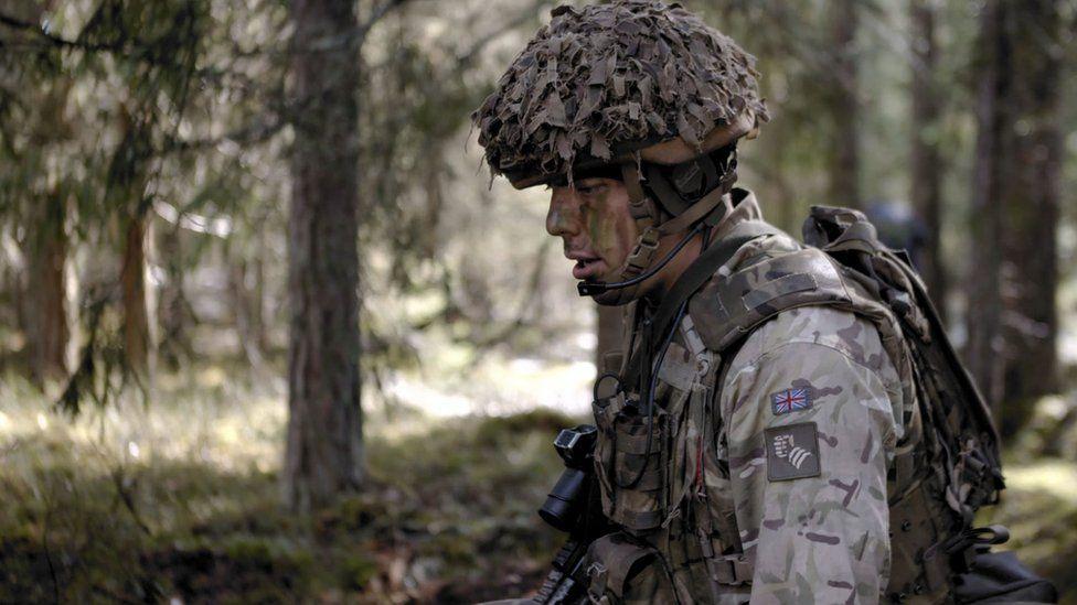 A soldier deployed to Estonia