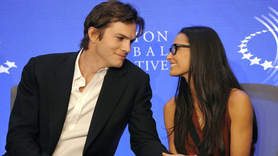 Aaron Kutcher and Demi Moore