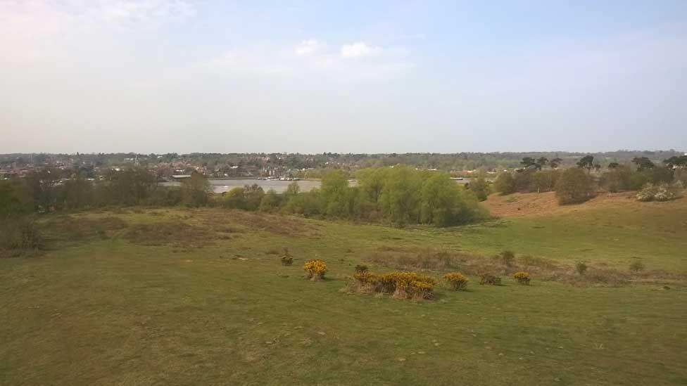 Sutton Hoo estate overlooking River Deben and Woodbridge