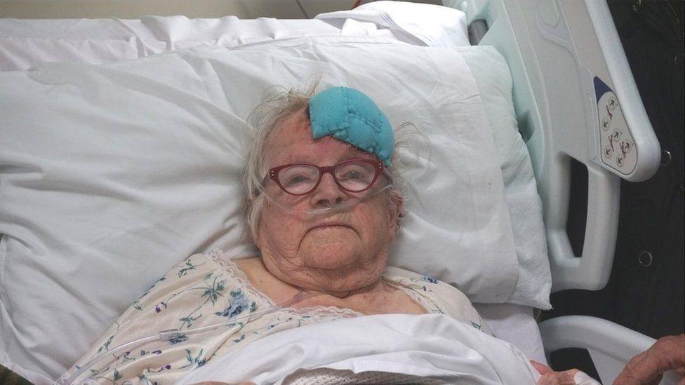Adelaide Kershaw in hospital