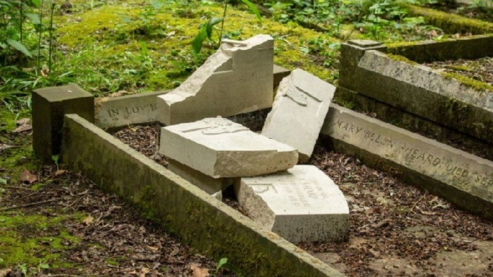 War graves smashed before D-Day commemorations