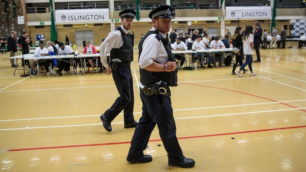 Police at Islington count