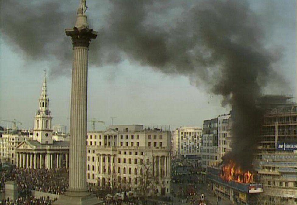 Trafalgar Square poll tax riot