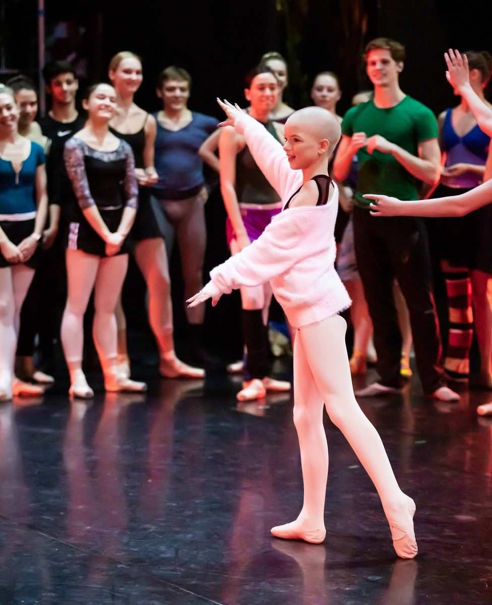 Lily Douglas takes company class with Scottish Ballet on stage at …. Credit Sally Jubb..jpg