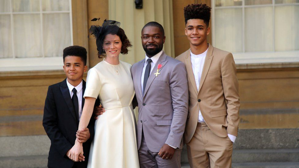 David Oyelowo with wife Jessica and their sons