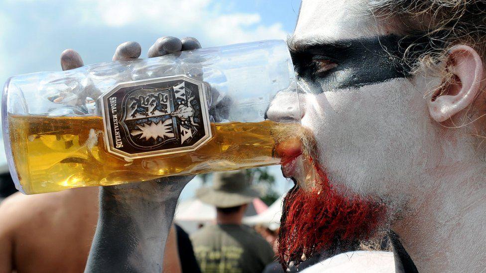 Heavy metal fan at Wacken, 2010