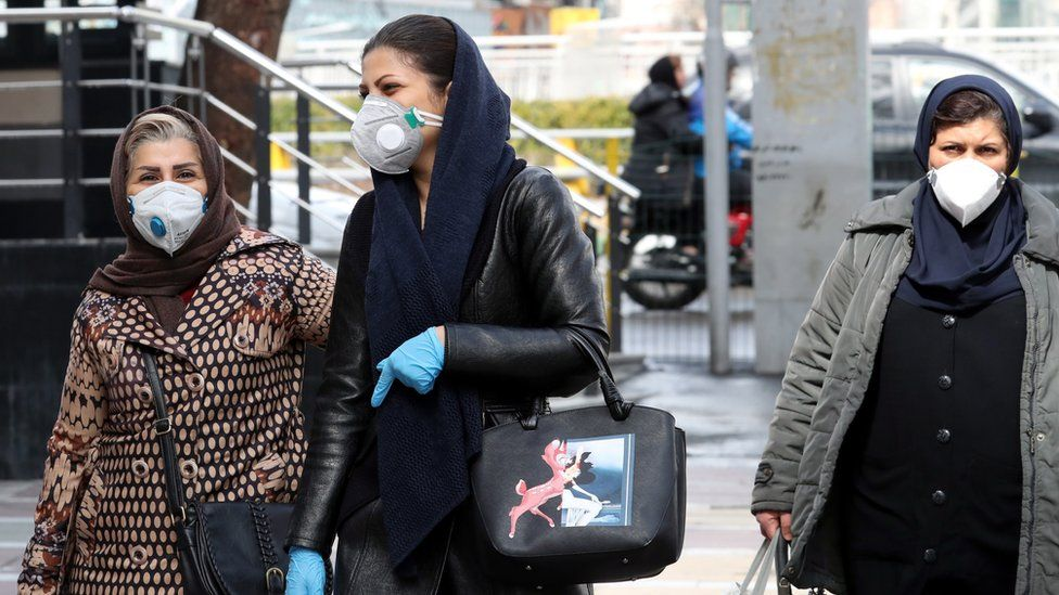 iran women in masks