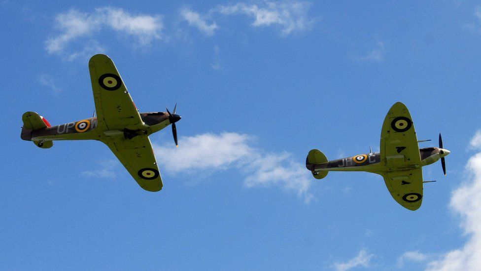 Hurricane and Spitfire
