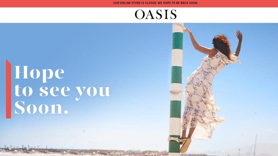 Oasis website screenshot
