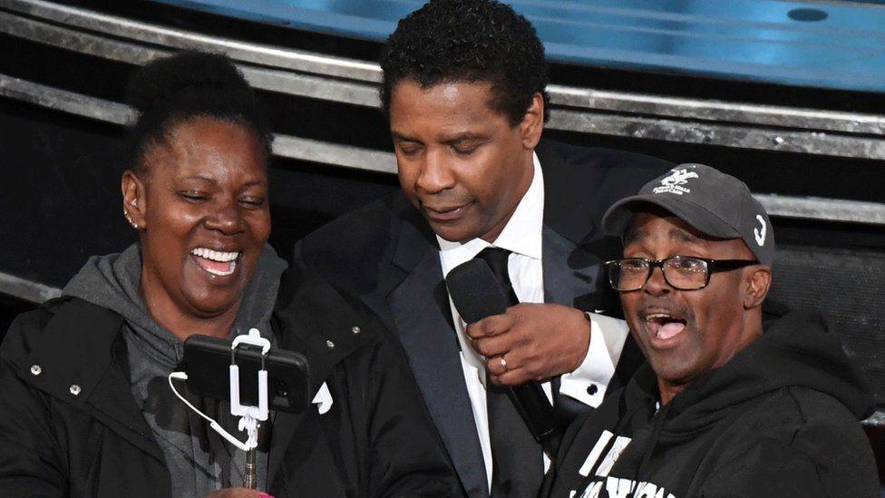 Denzel Washington and couple