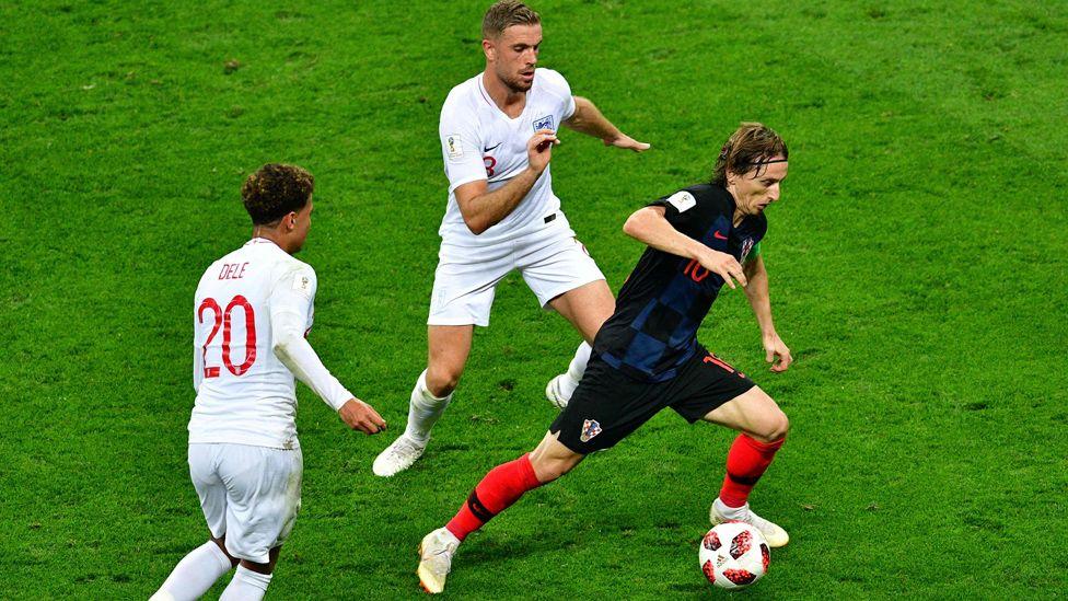 Modric in World Cup semi-final, 11 Jul 18