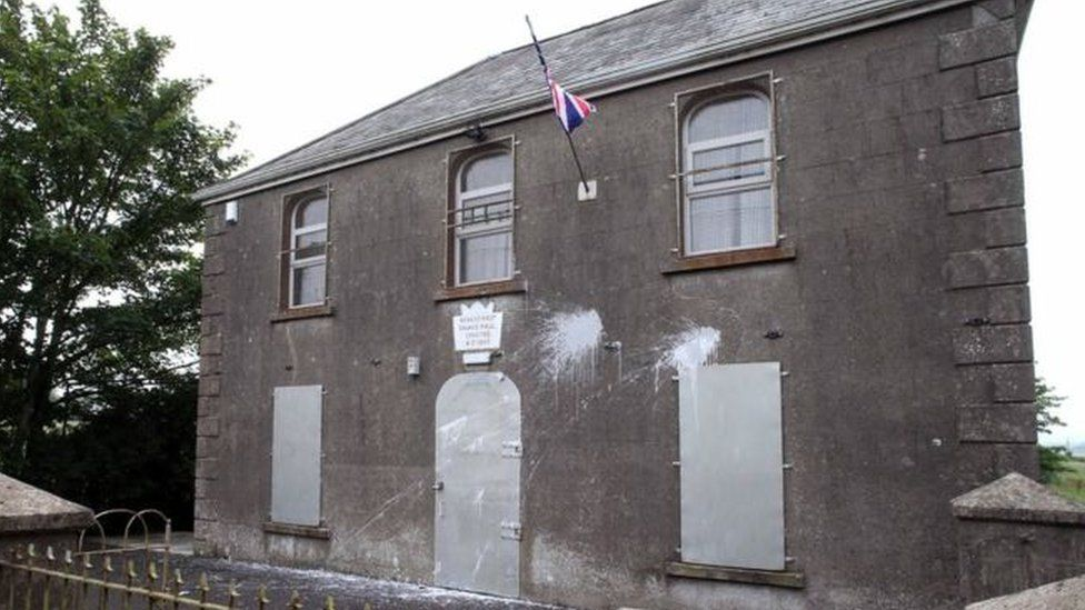 Rosdernat Orange Hall near Cloughmills targeted in paint attack
