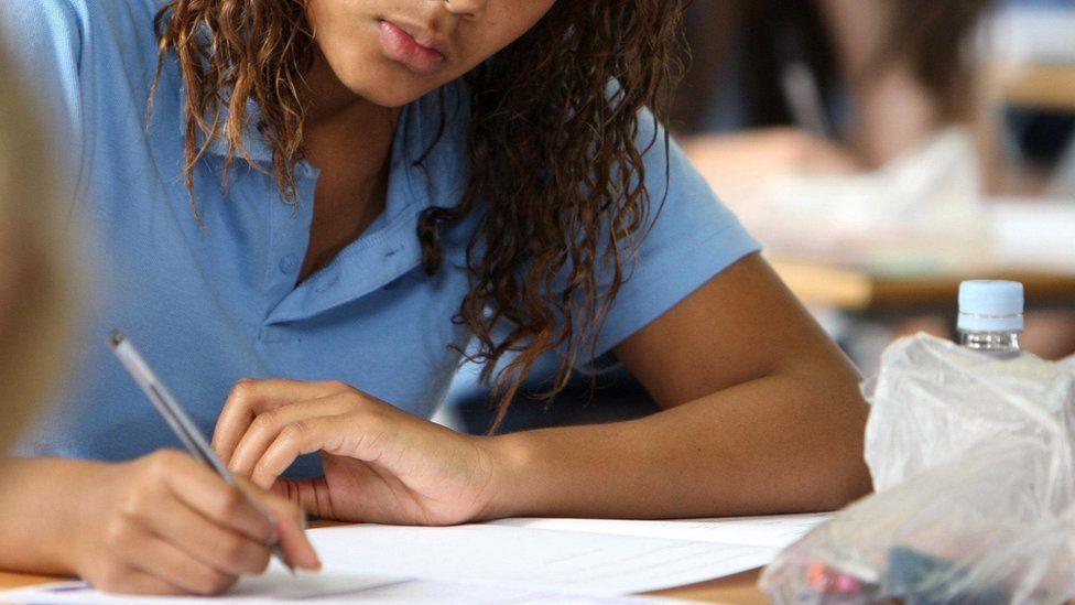 Generic photo of student taking GCSEs