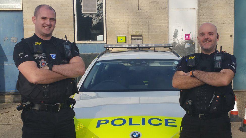 PC James Ireland and PC Dan Bellingham