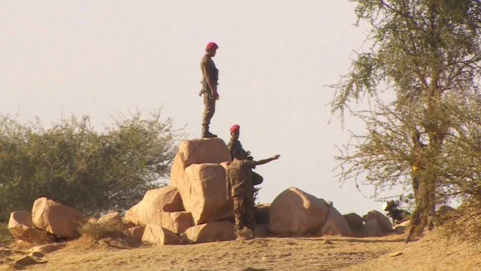 Soldiers deployed at Ethiopia's border with Sudan
