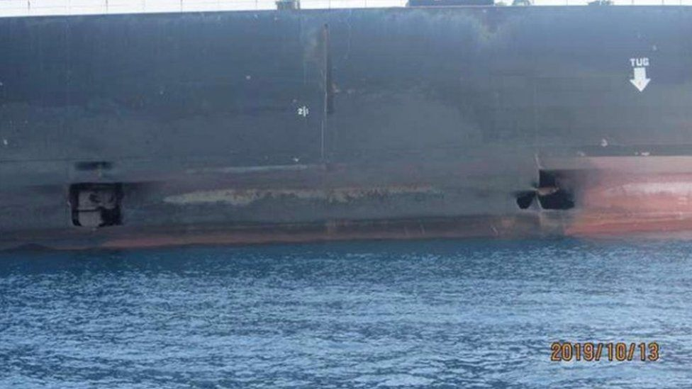 Gulf tanker attacks: Iran releases photos of 'attacked' ship