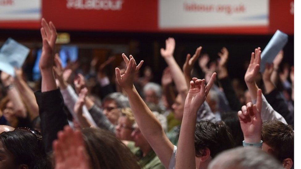 Labour delegates at party conference