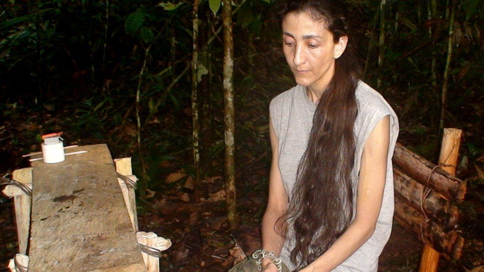 Photograph taken at an undisclosed place and released on November 30, 2007 by the Colombian presidential press office of former presidential candidate Ingrid Betancourt, kidnapped by the Revolutionary Armed Forces of Colombia (FARC) guerrillas in February 2002.