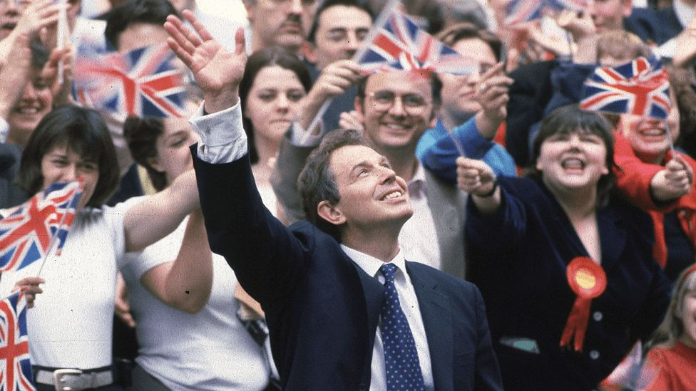 Picture of Tony Blair in Downing Street