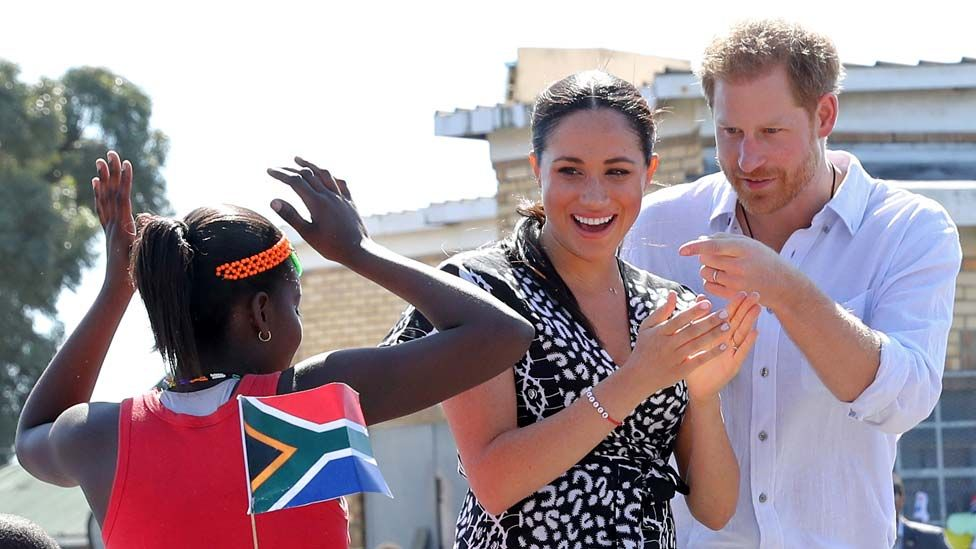 The Duke and Duchess of Sussex arrive at Nyanga, Cape Town