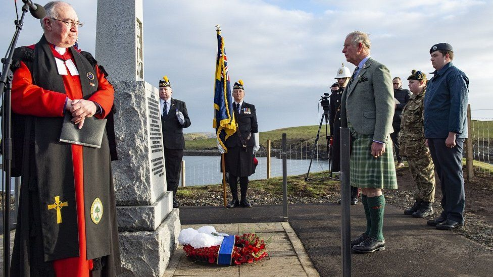 Prince Charles at Iolaire memorial