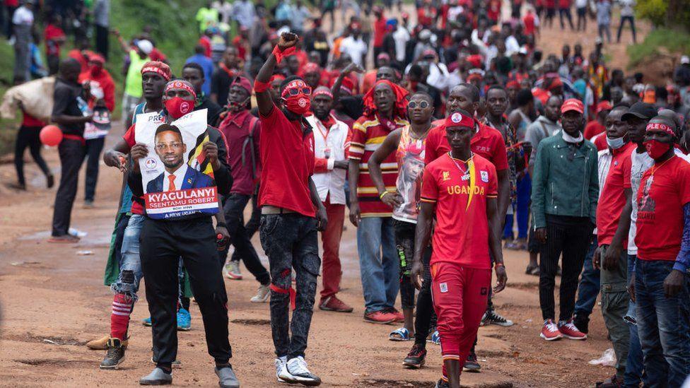 Bobi Wine supporters