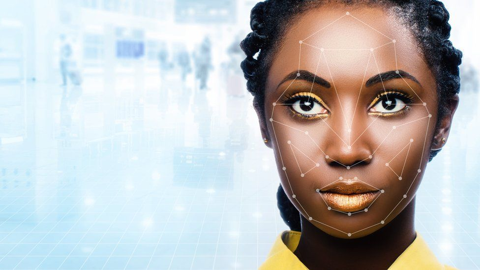 Automated Facial surveillance graphic