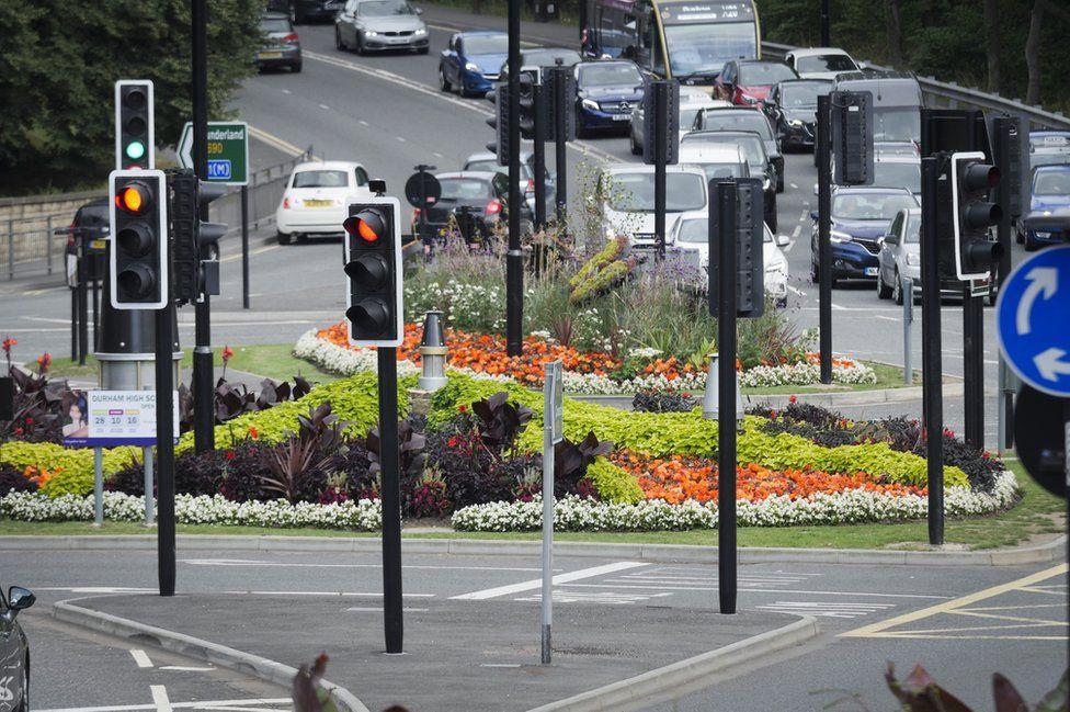 Durham roundabout display