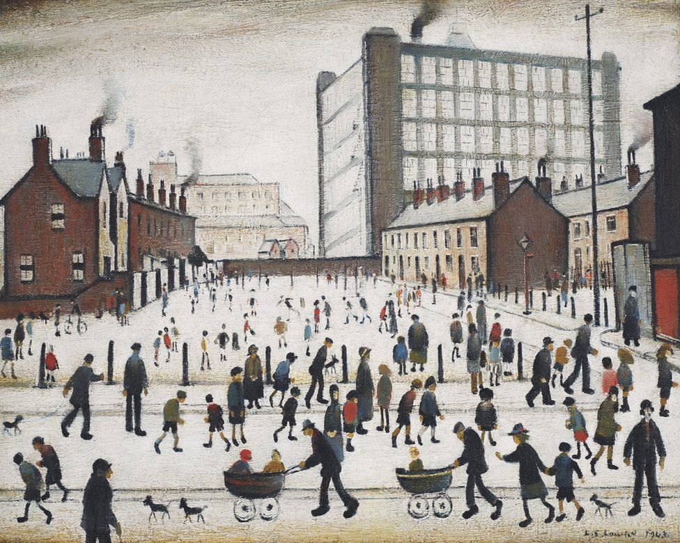 The Mill, Pendlebury by LS Lowry