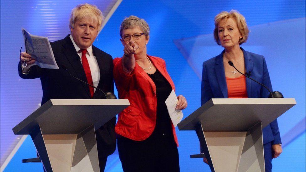 Boris Johnson, Gisela Stuart and Andrea Leadsom