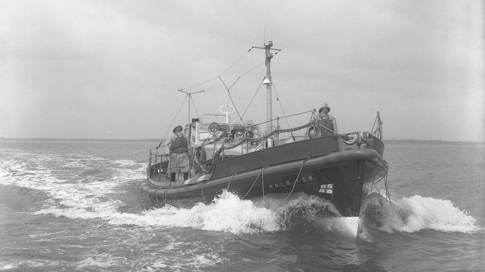 Longhope Lifeboat TGB prior to the disaster in March 1969