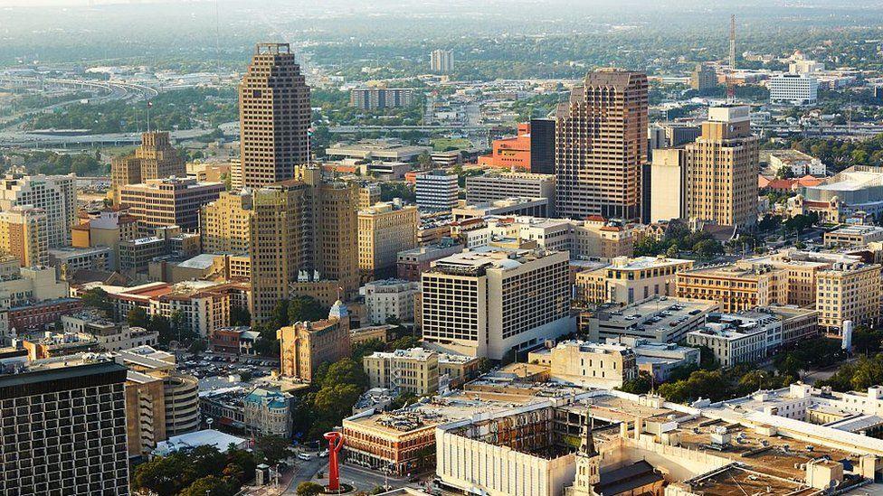 City skyline of San Antonio, Texas