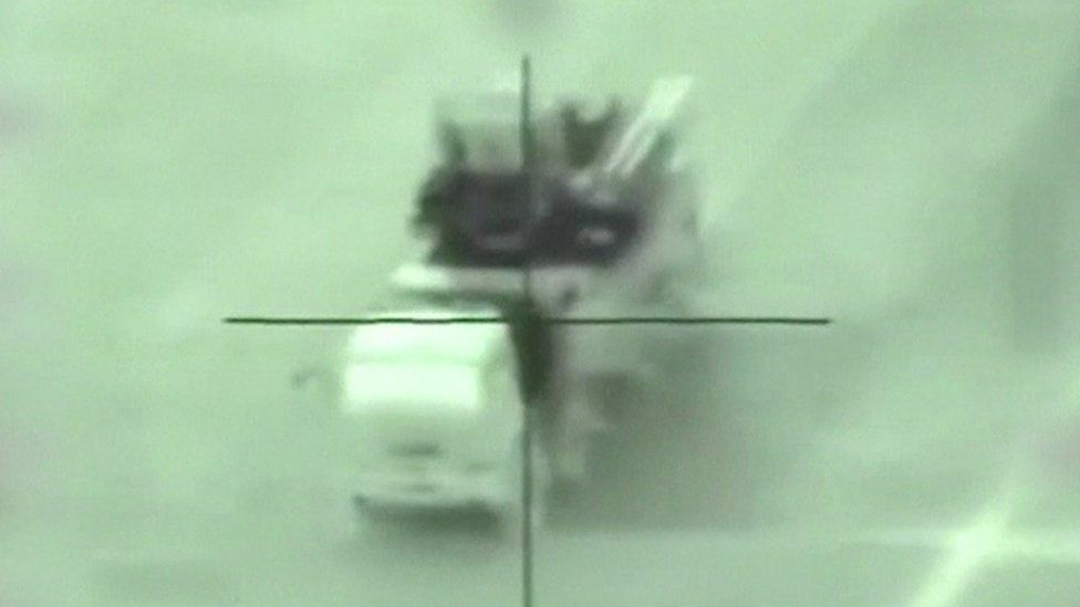 Syrian missile launcher struck by Israeli missile