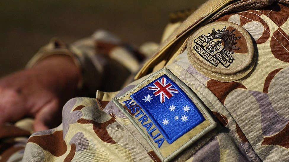 File image of an Australian soldier