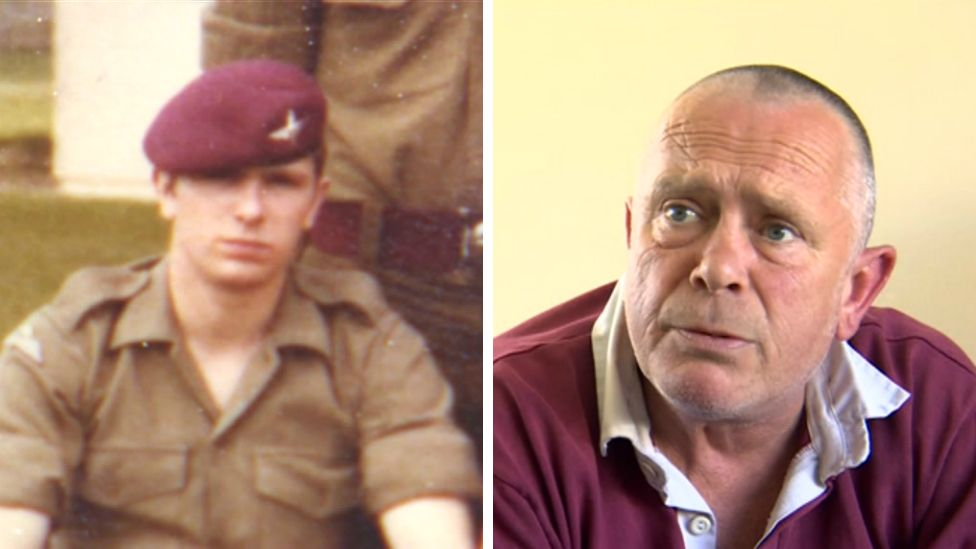 Steven Flynn while in 3 Para, and now