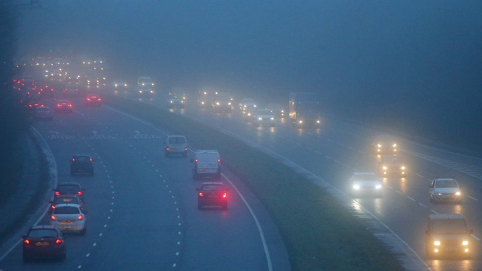 Traffic in fog