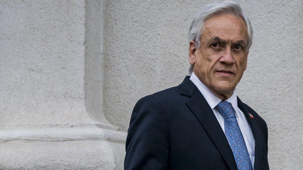 President of Chile Sebastián Piñera at the La Moneda Palace on 4 September 2019