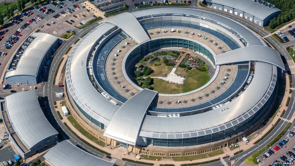 Government Communications Headquarters, also known as GCHQ, Cheltenham Gloucestershire.