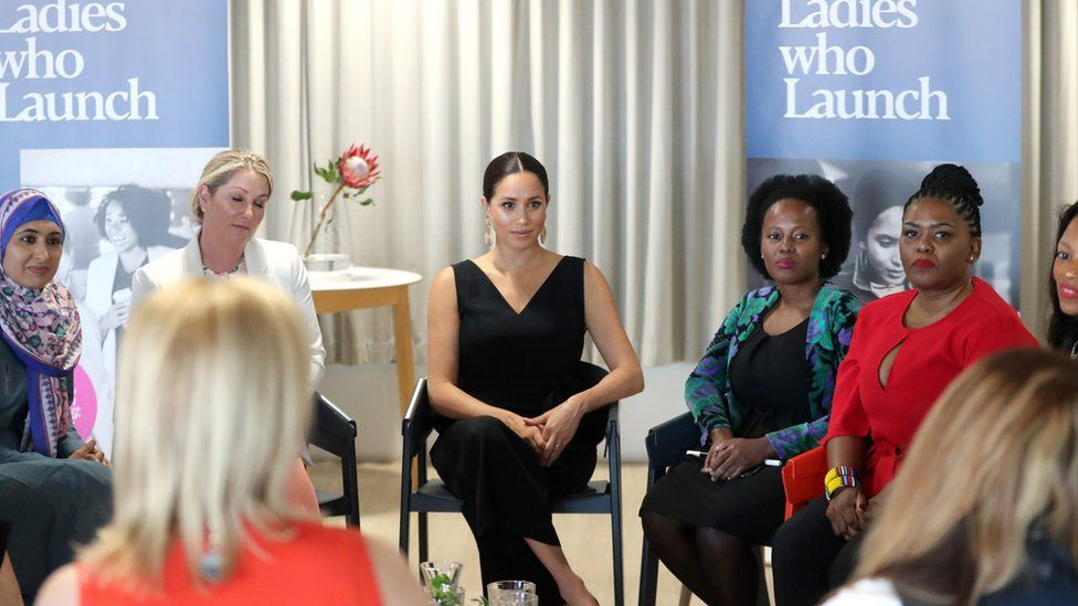 Meghan at an event during a tour of South Africa