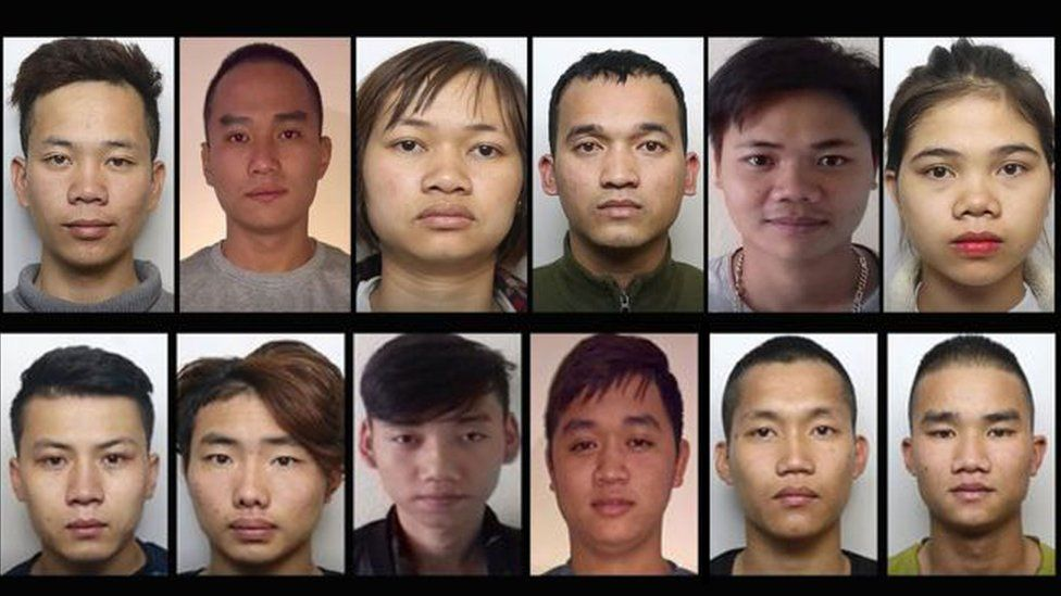 Police images of Vietnamese immigrants who have disappeared