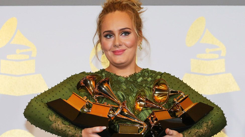 The star won five Grammy Awards for her last album, titled 25
