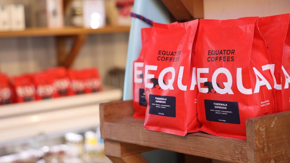 Bags of Equator coffee