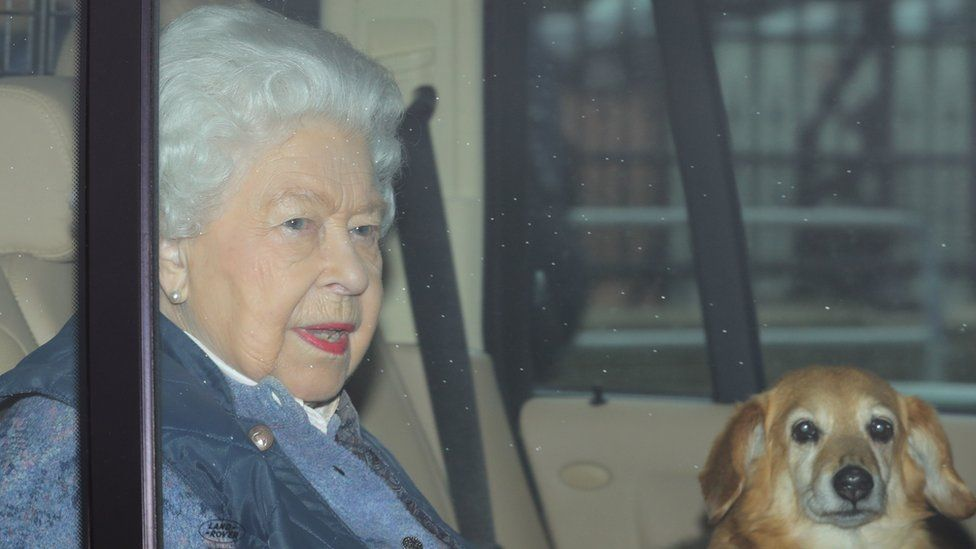 The Queen pictured leaving Buckingham Palace