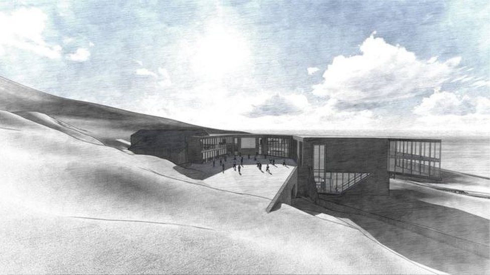 Artist impression of revamped CairnGorm snowsports centre